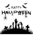 happy halloween hand out from the grave ima vector image