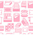 home textiles seamless pattern with flat line vector image vector image
