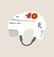 ice hockey helmet vector image vector image