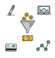infographic icons for money exchange vector image vector image