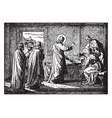jesus resurrects the daughter of jairus ruler of vector image vector image