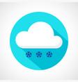 light snowfall weather icon vector image