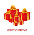 merry christmas creative design with white vector image vector image