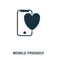 mobile friendly icon line style icon design ui vector image