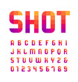 mosaic font alphabet with latin letters and vector image vector image