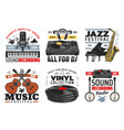 musical instruments jazz music festival icons vector image
