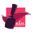 nail studio and hand care beauty salon isolated vector image vector image