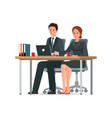 office people work in office vector image vector image