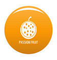 passion fruit icon orange vector image vector image