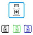 pharmacy vial framed icon vector image