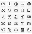 Photo and optical icons vector image vector image