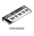 piano or synthesizer electronic music playing vector image vector image