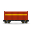 Platform with Red Container Isolated on White vector image vector image