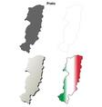 Prato blank detailed outline map set vector image vector image