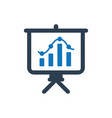 presenting business report icon vector image vector image