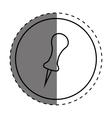 push pin thumbtack vector image vector image