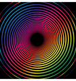 Rainbow Spiral Black background vector image vector image