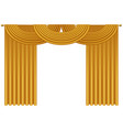 Realistic golden luxury curtains and