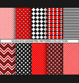 seamless geometric patterns collection vector image vector image