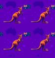 seamless pattern with kangaroo flag of australia vector image