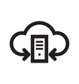 server computer cloud hosting icon design vector image