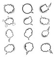set empty comic style speech bubbles vector image vector image