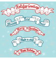 Set of Christmas and new year ribbons vector image vector image