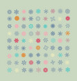 set of colorful snowflakes icons vector image vector image