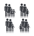 set social family member together vector image