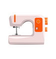 sewing machine modern equipment of dressmaker vector image vector image