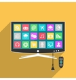 Smart TV with remote control vector image vector image