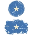 Somalia round and square grunge flags vector image vector image