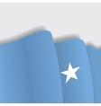 Somalian waving Flag vector image vector image