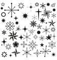 stars sparkles black set symbols