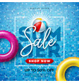summer sale design with typography letter and vector image vector image