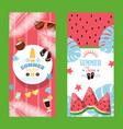 summertime sale vertical typographic banner vector image vector image