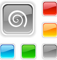 Swirl button vector image vector image