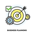 Time management and business planning graphic vector image vector image