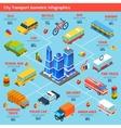 Transport Isometric Infographics vector image