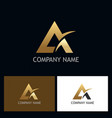 triangle gold letter a company logo vector image vector image