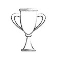 trophy award competition winner icon vector image vector image