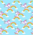 unicorn seamless pattern vector image