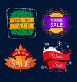various seasonal sale event tittle vector image vector image