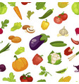 vegetables aubergine and pumpkin set seamless vector image vector image