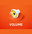 volume isometric icon isolated on color vector image vector image
