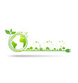 world environment and sustainable development vector image