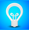 3d lightbulb over bright blue vector image vector image