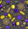 a seamless pattern with beads and tools vector image vector image