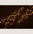 abstract glowing wavy lines futuristic background vector image vector image