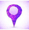 Abstract triangles map location pointer vector image